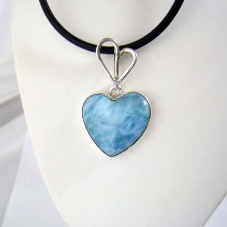 Larimar-Stone Yamir Pendant Heart 9329 69,00 €