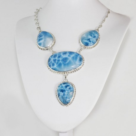 Larimar-Stone XXL Yamir Luxury Collier Necklace 01 9364 1,899.00