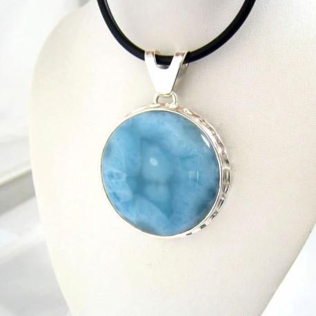 Ларимар ювелирные изделия круглый YR1 9355 Larimar-Stone
