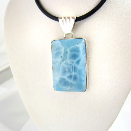 Ларимар ювелирные изделия кулон Orgon 02 9357 Larimar-Stone