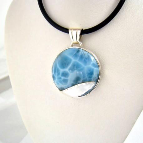 Ларимар ювелирные изделия круглый YR3 9361 Larimar-Stone