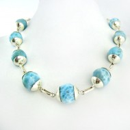 Larimar-Stone Yamir Collier Beads Necklace Sterling Silver YK1 9398 899,00 €
