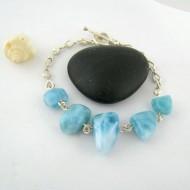 Larimar-Stone Yamir Nugget Silver Bracelet 9403 109,00 €