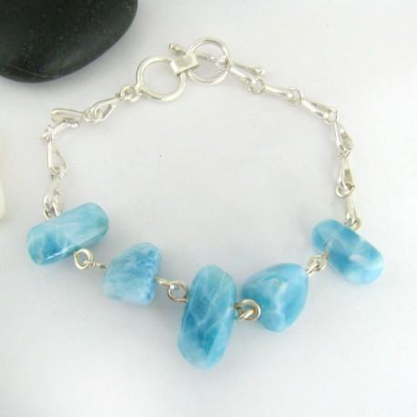 Larimar-Stone Yamir Nugget Silver Bracelet YA3 9405 109,00 €