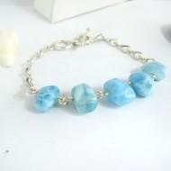 Yamir Luxury Bracelet Nugget YA5 9407 Larimar-Stone 109,00 €
