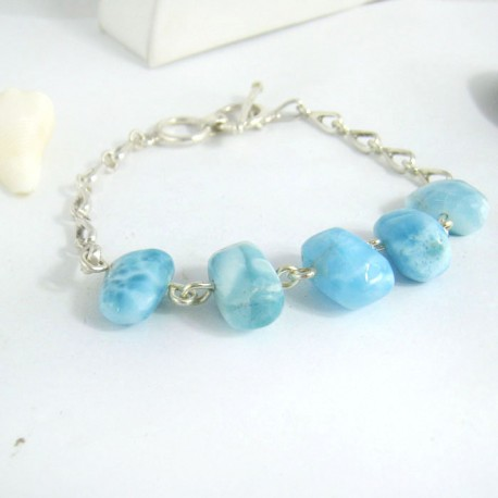 Larimar-Stone Yamir Nugget Silver Bracelet YA5 9407 109,00 €