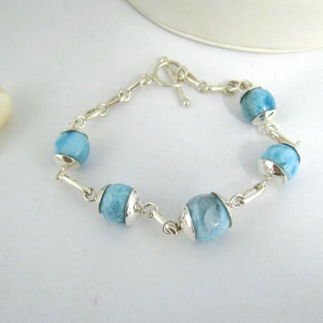 Larimar-Stone Yamir Beads Silver Bracelet YK1 9408 159,00 €