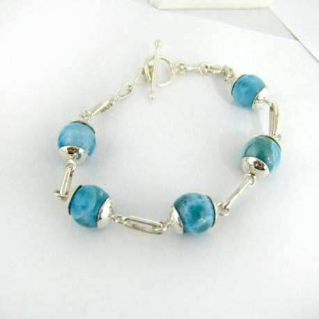 Larimar-Stone Yamir Larimar Kugel Silber Armband YK2 9409 159,00 €