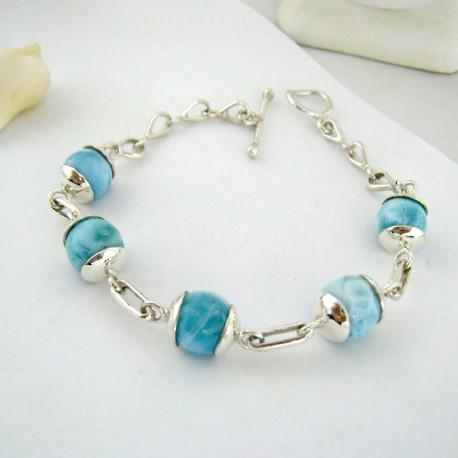 Larimar-Stone Yamir Beads Silver Bracelet YK3 9410 149,00 €