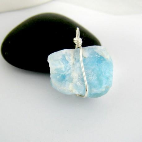 Larimar-Stone Anhänger Stein mit Silberdraht YS9 9424 29,00 €