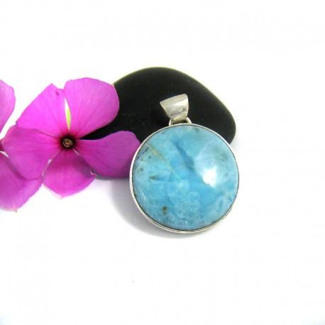 Larimar Pendentif Rond UK3 9446 Larimar-Stone 59,90 €