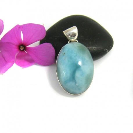Ларимар ювелирные изделия кулон OV13 9459 Larimar-Stone