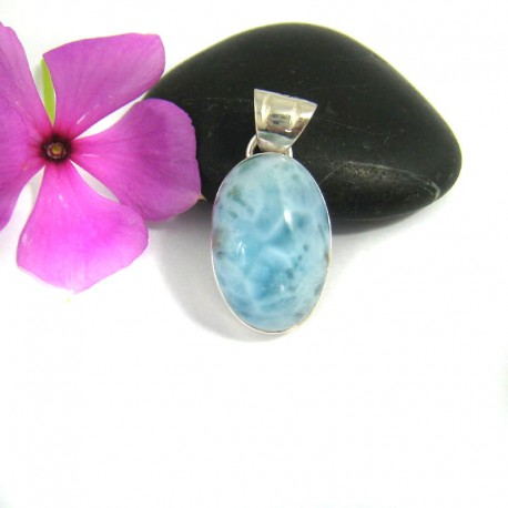 Ларимар ювелирные изделия кулон OV16 9470 Larimar-Stone
