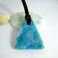 Ларимар камень пробурена с лентой SB15