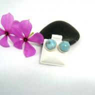 Larimar-Stone Larimar Earrings Round OR7 9515 22,99 €