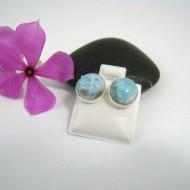 Larimar-Stone Larimar Earrings Round OR10 9518 29,99 €