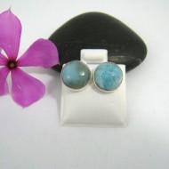 Larimar-Stone Larimar Earrings Round OR15 9524 24,99 €