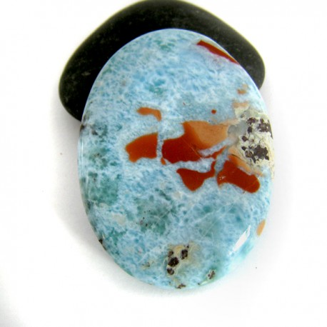 Larimar-Stone Larimar Tumbled Hand flatterer 8960 89,90 €