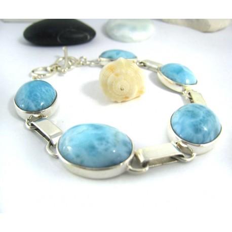 Larimar-Stone Yamir Bracelet Oval 9745 159,00 €