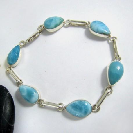 Larimar-Stone Yamir Bracelet 6 Drop 9744 89,00 €