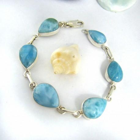 Yamir Luxury Bracelet 6 Drop 9669 Larimar-Stone 109,00 €