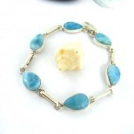 Larimar-Stone Yamir Armband 6 fach Tropfen 9670 89,00 €