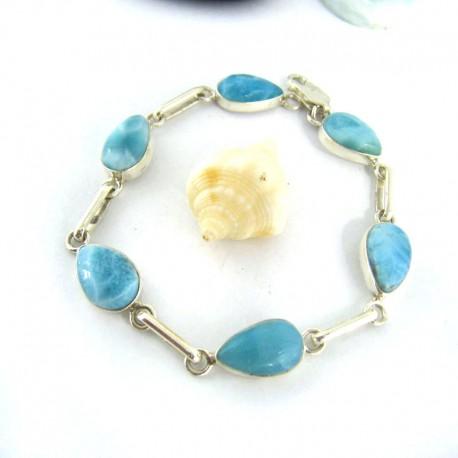 Larimar-Stone Yamir Bracelet 6 Drop 9670 89,00 €