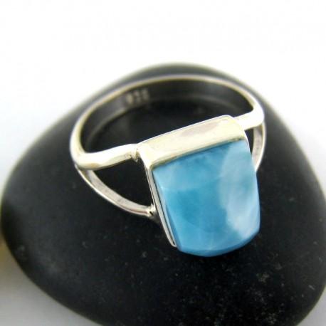 Larimar-Stone Ring Larimar Viereck Unisex 03 9688 59,00 €