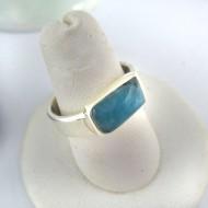 Larimar-Stone Ring Larimar Rechteck Unisex 06 9691 69,00 €