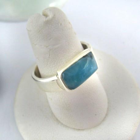 Ларимар Ювелирное кольцо четырехугольник 06 9691 Larimar-Stone