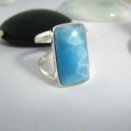 Ларимар Ювелирное кольцо четырехугольник YV2