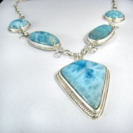 Larimar-Stone XL Yamir Luxury Collier Necklace YC8 9831 699,00 €