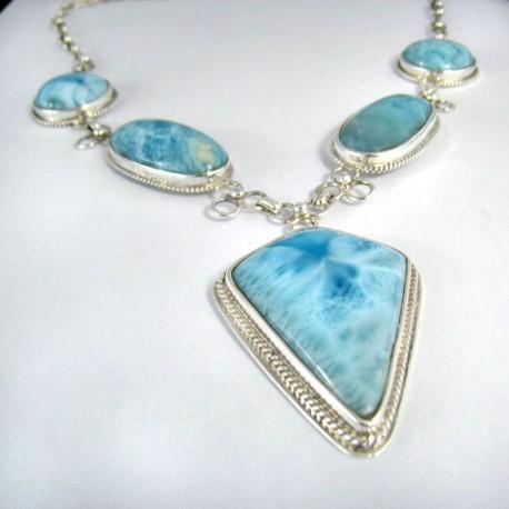Larimar-Stone XL Yamir Luxury Collier Necklace YC8 9831 699,00 €