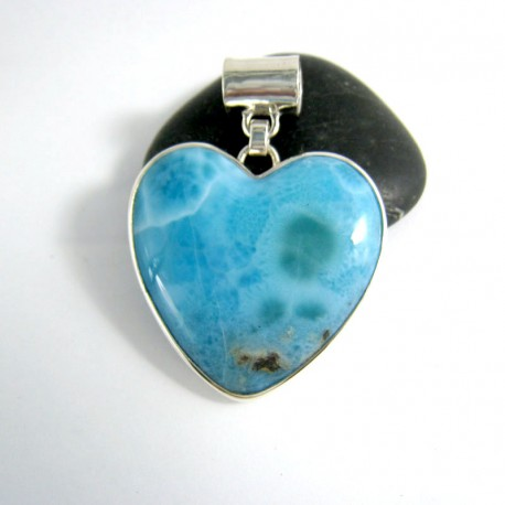 Ларимар ювелирные изделия сердце HZ7 9971 Larimar-Stone