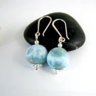Larimar-Stone Larimar Earrings bead YK1 9992 59,00 €