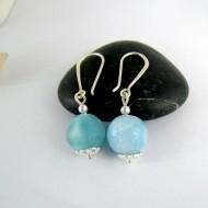 Larimar-Stone Larimar Earrings bead YK2 9993 54,90 €