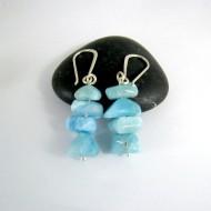 Larimar-Stone Larimar Earrings Nuggets YN2 9995 46,90 €