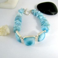 Yamir Luxury Bracelet 3 Quadrangle 9997 Larimar-Stone 169,00 €
