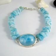 Larimar-Stone Yamir Bracelet Oval Nuggets YA1 9998 139,00 €
