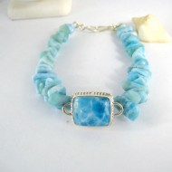 Larimar-Stone Yamir Bracelet Square with Nuggets 10000 149,00 €