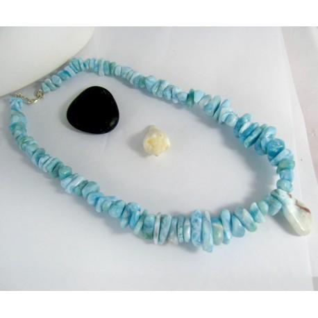 Larimar-Stone Yamir Collier Nugget Necklace YN2 10006 349,00 €