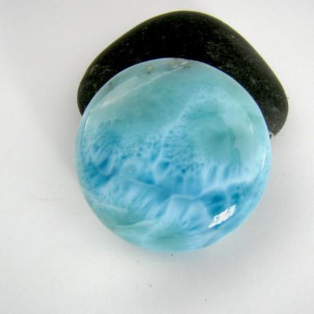 Larimar-Stone Larimar Rund Cabochon 9015 79,90 €