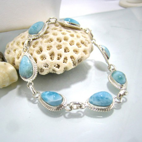 Larimar-Stone Yamir Bracelet 7 Stones Classic LC1 10216 89,00 €