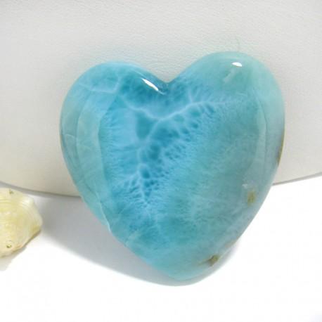 XXL Ларимар сердце кабошон HZ1 10009 Larimar-Stone