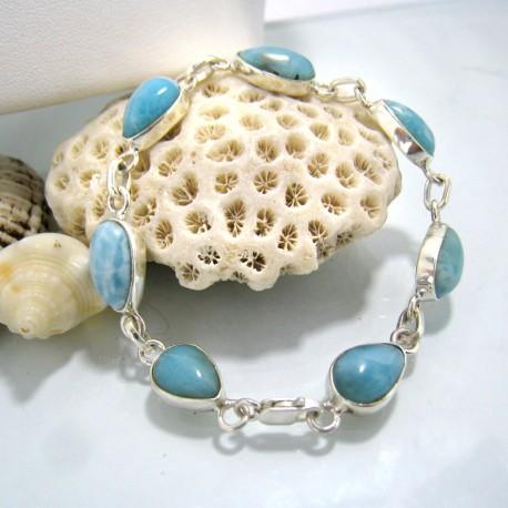 Larimar-Stone Yamir Bracelet 7 Stones Classic LC2 10217 79,00 €