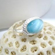 Ларимар Ювелирное кольцо овальный YF6 10068 Larimar-Stone