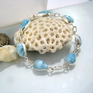 Larimar-Stone Yamir Bracelet 7 Stones Classic LC5 10220 79,00 €