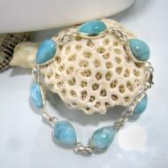 Larimar-Stone Yamir Bracelet 7 Stones Classic LC6 10221 69,00 €