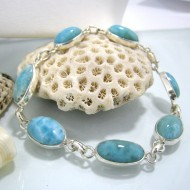 Larimar-Stone Yamir Bracelet 7 Stones Classic LC8 10222 79,00 €