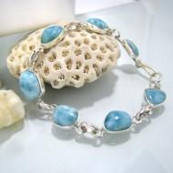 Larimar-Stone Yamir Bracelet 7 Stones Classic LC9 10223 79,00 €